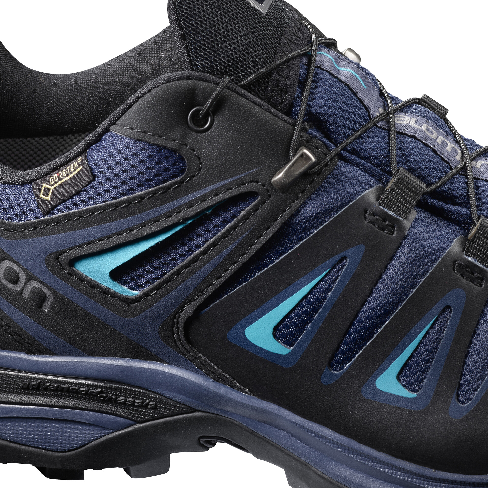 Salomon X Ultra 3 GTX Chaussures de randonnée Femme, medieval blueblackhawaiian surf